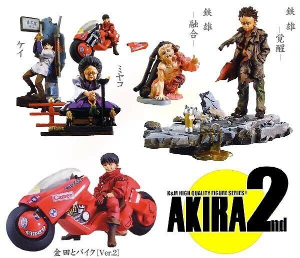 Rare Set 5 Figure Models Akira Akira Akira Part 2 Original Kaiyodo Japan Trading Figures 94d
