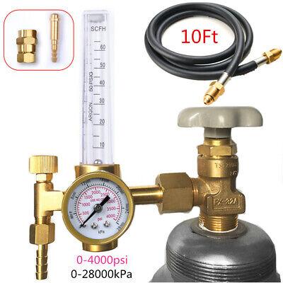 CGA580 Argon CO2 Mig Tig Flow Meter Weld Regulator Gauge Gas Welder /& 10FT Hose