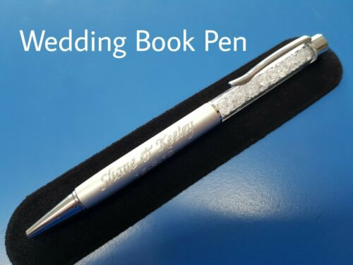 ANNIVERSARY GIFT ANY MESSAGE FREE ENGRAVING GIFT POUCH WEDDING BOOK PEN