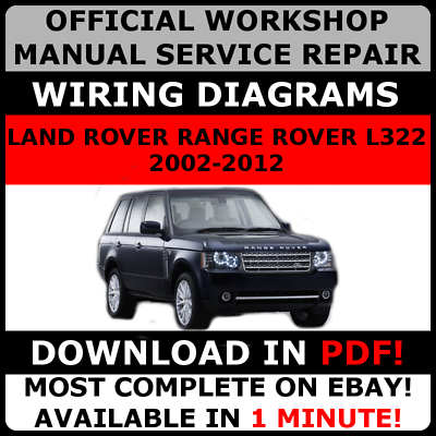 Range Rover L322 Factory Workshop Service /& Repair Manual 2002 TO 2012 PDF
