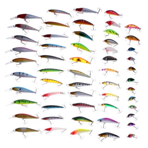 56pcs Fishing Wobblers Mixed 8 Models Fishing Lures Hard Baits Minnow Lures