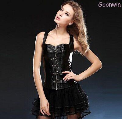 Gothic Palace Waist Training sexy body Cincher Corset Bustier & Skirt Lingerie