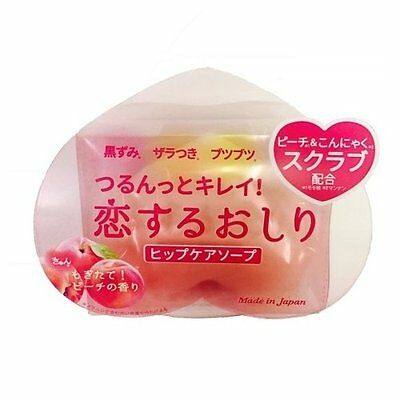 Japan pelican soap cute shape peach scent hip care scrub soap 80g From Japan