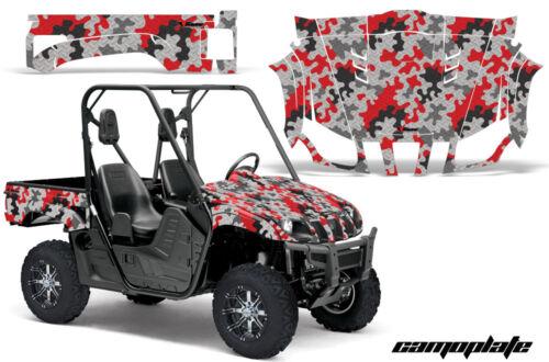 UTV Graphics Kit Decal Wrap For Yamaha Rhino 450//660//700 2004-2013 CAMOPLATE RED