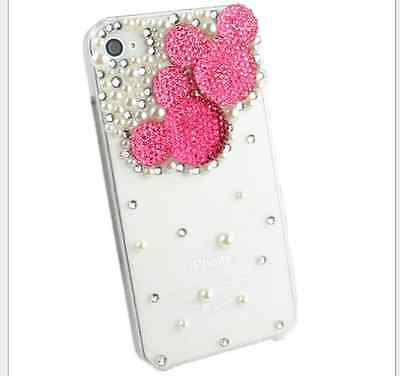 10x 20x 30 x Cute hand made Micky mouse pearl bling Iphone case  5/5S  Wholesale