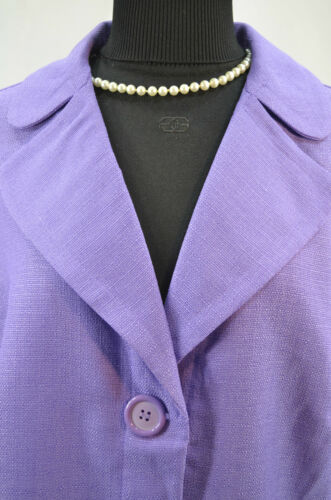 Top Light Womens Coat Sz 1 Button 20w Plus Blazer Jacket New Purple Barn Dress Cw1P6wqFp