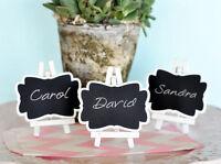 75 Framed Black Mini Chalkboard Place Cards Bridal Wedding Favors