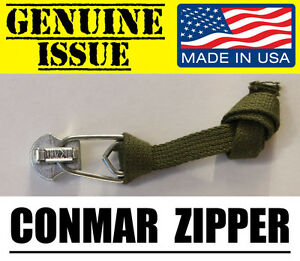 NICKEL CONMAR MILITARY #10 ZIPPER SLIDER HEAD M65 M51 JACKET REPLACEMENT REPAIR