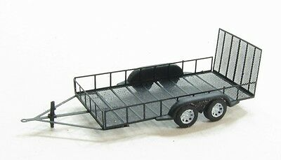 N Scale 8' x 16' Utility Trailer (one trailer) Kit by Showcase Miniatures (531)