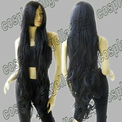 Synthetic Heat Resistant 40 in. Layer Wavy 100cm Long Cosplay Wigs Free Shipping