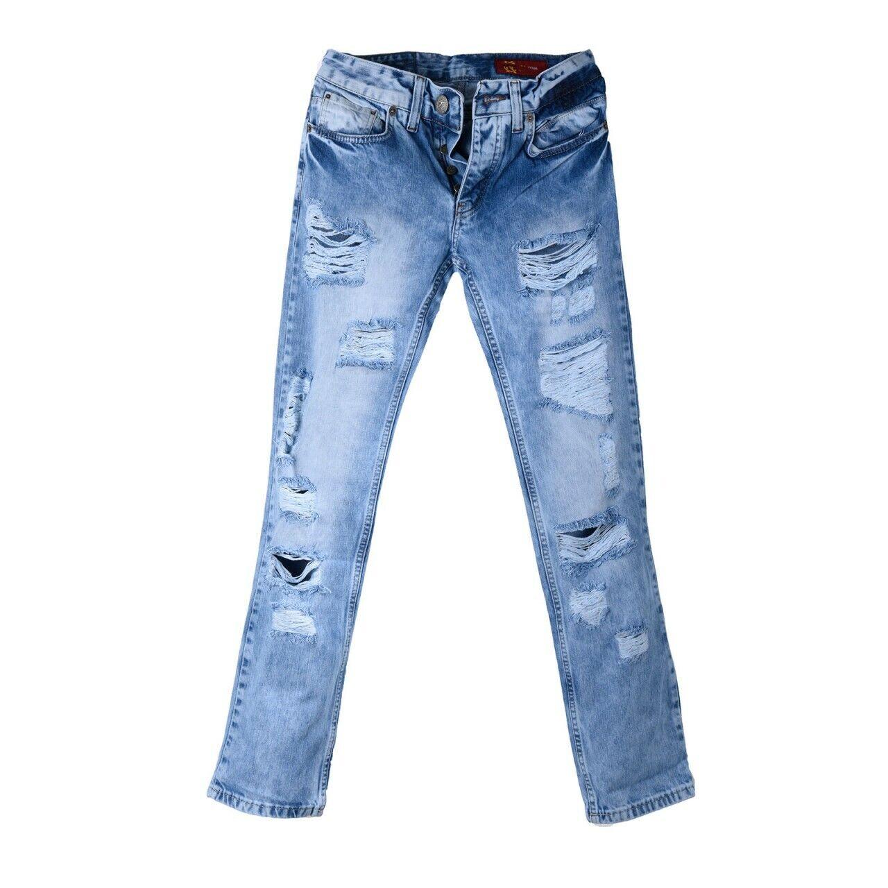 Modische Herren Jeans Used Look Optik in vielen Größen  | Der neueste Stil