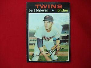 1971-TOPPS-BASEBALL-BERT-BLYLEVEN-MINNESOTA-TWINS-ROOKIE-RC-26-NICE-CARD