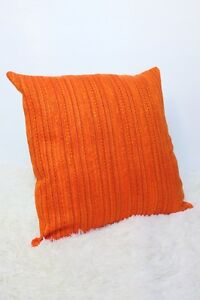 Retro-Cushion-Cover-18x18-034-Amazing-Original-60s-70s-Fabric-Orange