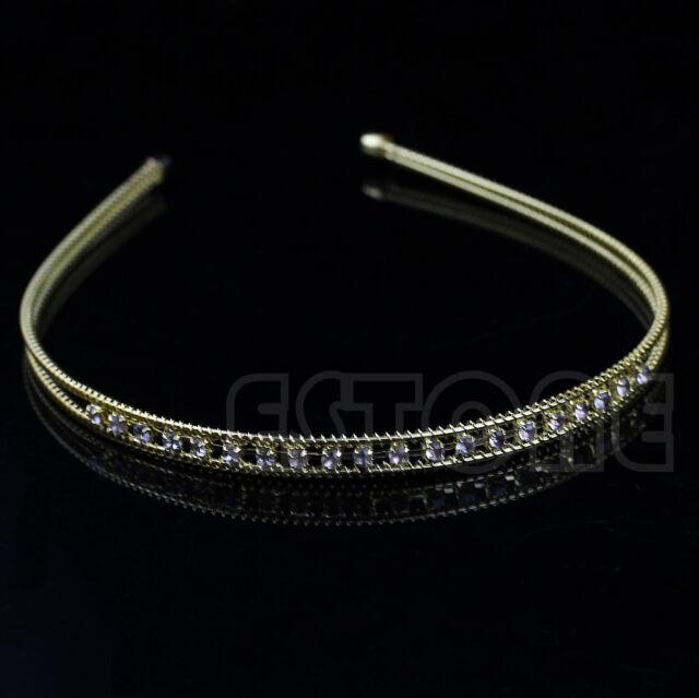 Fashion Metal Crystal Headband Head Piece Hair Band Jewelry for Women Girl Lady