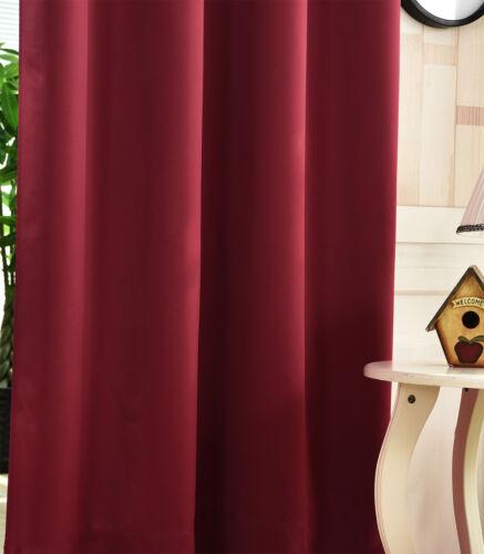 2er Set Rideau Opaque Ösenschal Rideau écharpe 135x245 Bordeaux vh5865bd-2