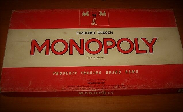AMAZING VINTAGE RARE GREEK rot MONOPOLY FROM EARLY 70s COMPLETE COMPLETE COMPLETE 155d2f