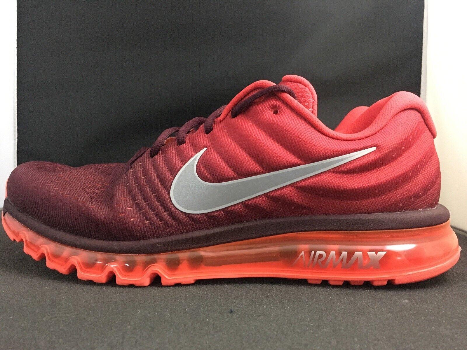 Nike air max 2017 alle roten 849559-601 herren laufschuhe größe.