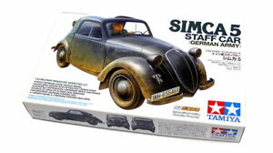 Tamiya-Military-Model-1-35-Simca-5-Staff-Car-German-Army-Scale-Hobby-35321