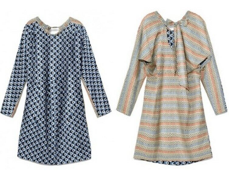 Marni for H&M Dress  Capsule Collection  Two Tone Geometric Print Boxy Tunic