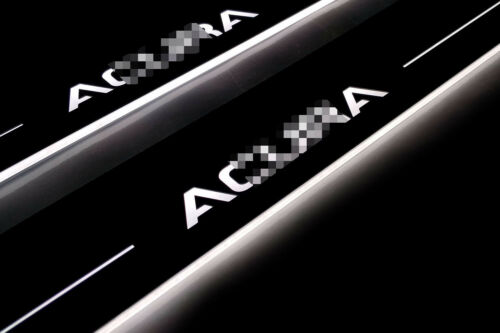 Led Illuminated Stainless Steel Door Sill Guards 2pc For Acura TL ...
