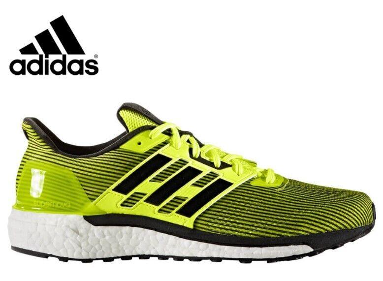 NEW Men's SZ 8.5, ADIDAS Supernova Running shoes BB3464 YELLOW BLACK STRIPE
