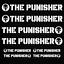 THE PUNISHER aufkleber Frontscheibenaufkleber Sticker Auto 8 Stücken Pack