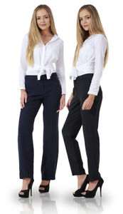 dd4433a12f8 Ladies Comfortable Work Straight Leg Office Formal Smart Womens ...