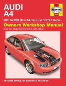 haynes audi a4 b6 01 04 s line sport cabriolet owners service rh ebay co uk audi a4 b6 manual boost controller audi a4 b6 manual swap
