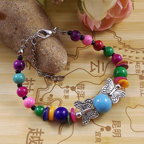 À faire soi-même New Fashion livraison gratuite bijoux tibet jade turquoise bead bracelet S235