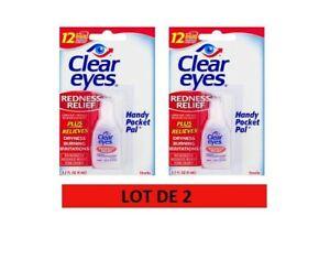 Clear-Eyes-Rougeur-Soulagement-Gouttes-Yeux-6ml-FRANCE-2-pieces