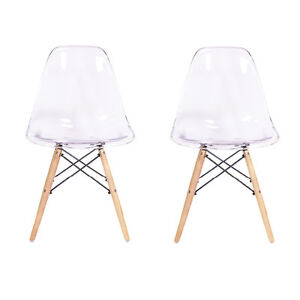 Eames Style Side Chair In Transpa