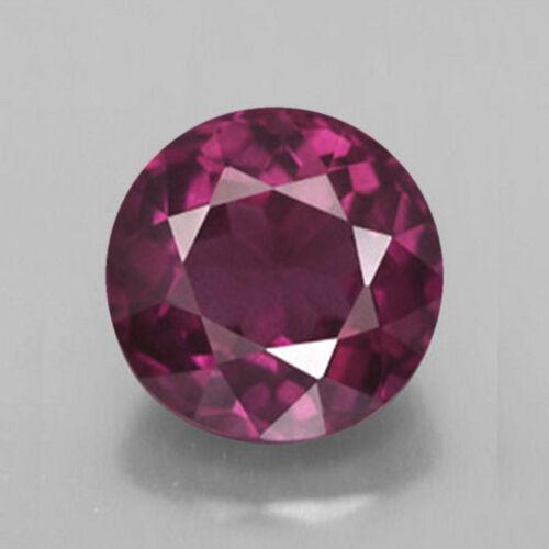 3mm Redondo Facetado Color Púrpura Rosa Genuino Rodolita piedra suelta