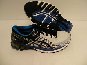 Details about Mens Asics running shoes gel kinsei 6 silver black blue size 7 us new
