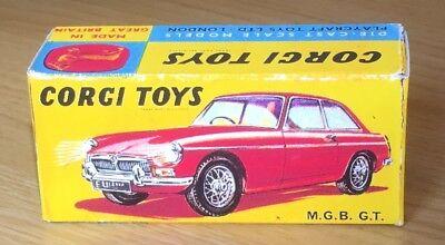 Corgi 345 MGC GT Competition Model Empty Repro Box