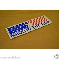 "Americana ""Made in USA"" Auto Caravan Adesivo Decalcomania Grafica-singolo"