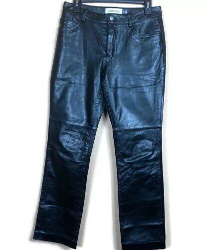 GAP Boot Cut Leather Pants Jeans Biker Womens Size
