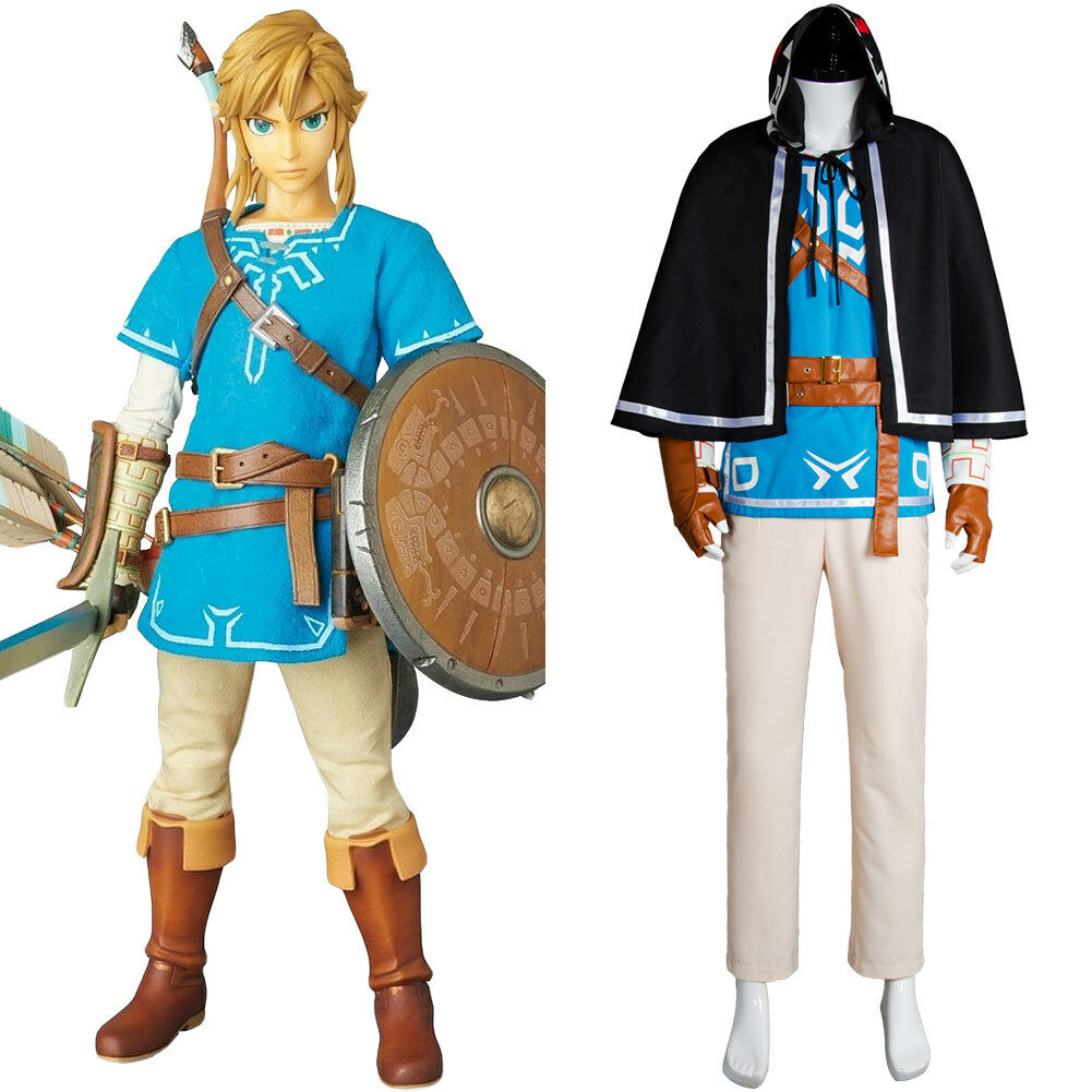 The Legend Of Zelda Breath Of The Wild Link Outfit Cosplay Costume Uniform Suit 132441558478