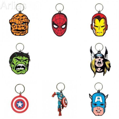 Spiderman Iron Man Marvel Rubber Key Chains Captain America Hulk Thor