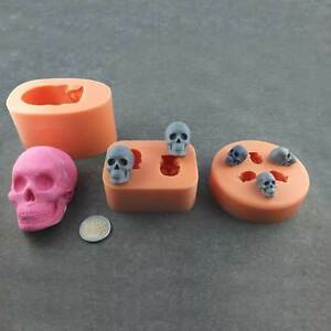 silikonform totenkopf skull sch del halloween silikon mould fondant tortendeko ebay. Black Bedroom Furniture Sets. Home Design Ideas