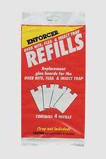 4pk Zep ENFORCER Over Nite Flea Insect Bug Glue Trap REFILLS Pest Control ONFT-R
