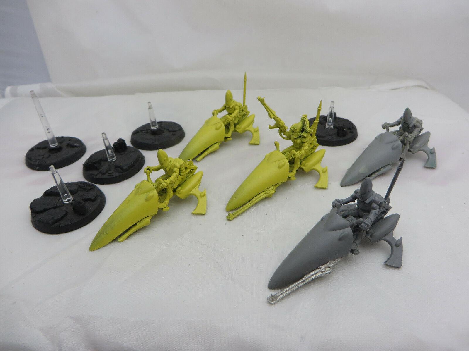 Warhammer 40K Eldar Guardian Jetbikes army lot