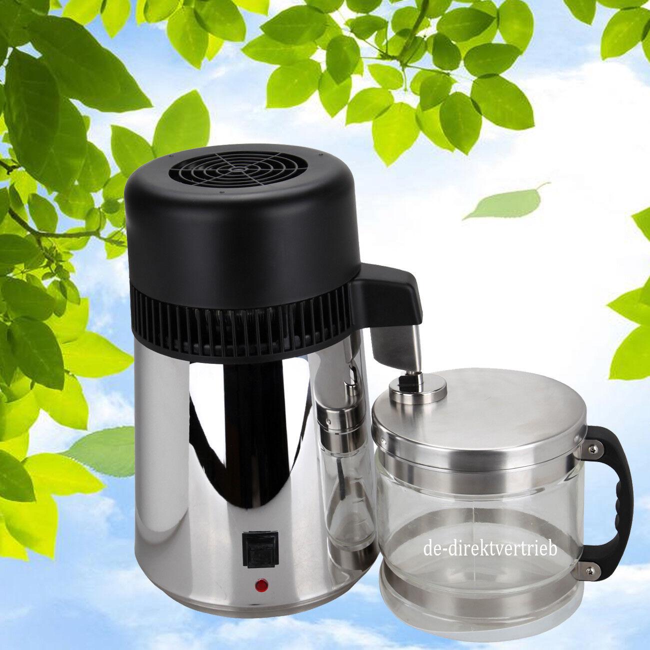 Pure Water Distiller Water Purifier 1 Gallon  4L Countertop Stainless Steel 750W