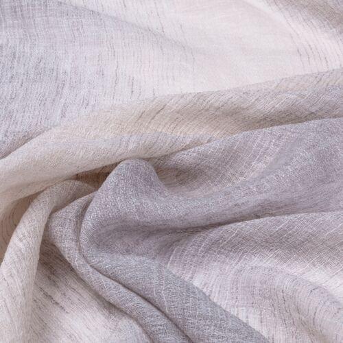Lino Blanco Apagado Gris Shaded Voile Cortina De Tejido Fino Tela 3m Ancho Pura Net