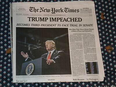 Trump Impeachment NEW YORK TIMES December 19, 2019 ...