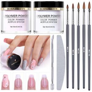 BORN PRETTY Acrylic Powder Kit Nail Art Carving Pen Brush Cuticle ...
