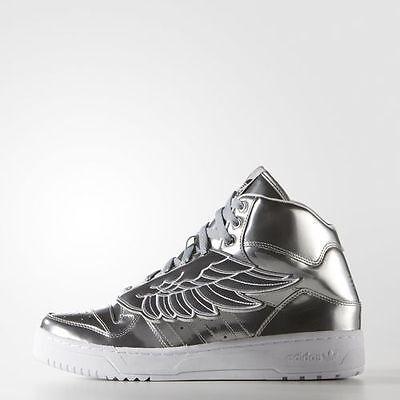 Adidas Originals JS Jeremy Scott Wings Silver Metallic White bear S77798 Men New