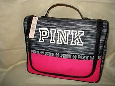 Victoria's Secret PINK Gray Hanging Shower Caddy Makeup Travel Cosmetic Bag New
