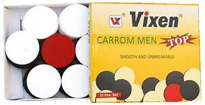 Vixen-Carrom-Men-Top-Heavy-Duty-Plastic-Coins-Set-Of-21-4-Mm-Thick-Free-Post-AU