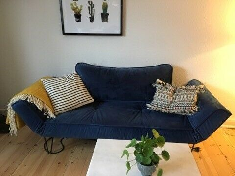 Daybed, velour, 2 pers.