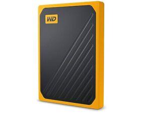 western digital WD my passport go SSD portatile 500 gb giallo
